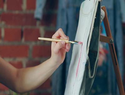 نقاشی روی بوم ساده