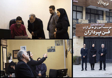 بازدید سید محسن سجاد مدیرکل دفتر امور اجتماعی و فرهنگی استانداری اصفهان از مرکز توسعه آموزش مجازی پارس