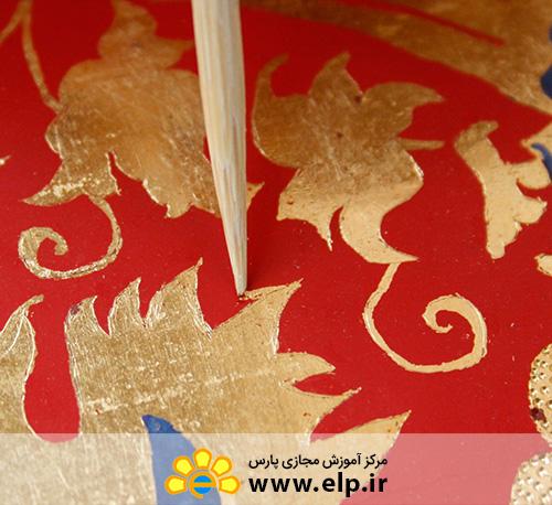 نقاشی روی شیشه وکریستال وسرامیک با آب طلا